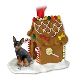 Miniature Pinscher Gingerbread Christmas Ornament