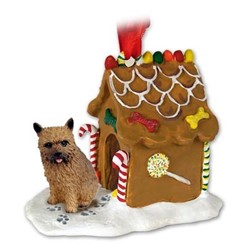 Norwich Terrier Gingerbread Christmas Ornament