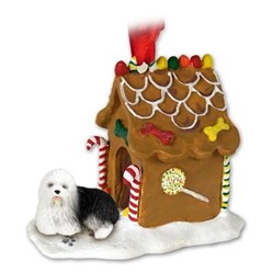 Old English Sheepdog Gingerbread Christmas Ornament