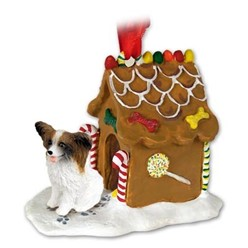 Papillon Gingerbread Christmas Ornament