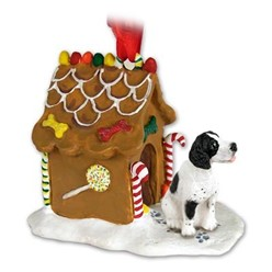 Pointer Gingerbread Christmas Ornament