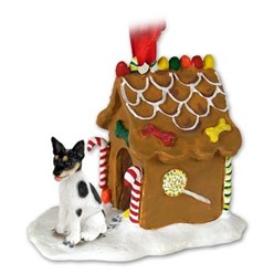 Rat Terrier Gingerbread Christmas Ornament