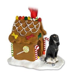 Saluki Gingerbread Christmas Ornament
