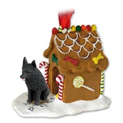 Schipperke Gingerbread Christmas Ornament