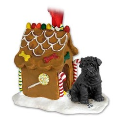Shar-Pei Gingerbread Christmas Ornament