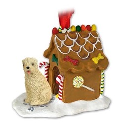 Soft Coated Wheaten Gingerbread Christmas Ornament