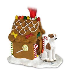 Whippet Gingerbread Christmas Ornament