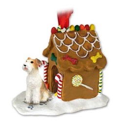 Wire Fox Terrier Gingerbread Christmas Ornament