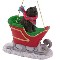 Chow Sleigh Christmas Ornament
