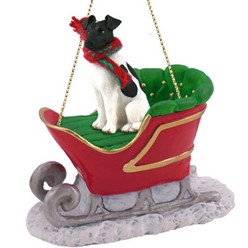 Smooth Fox Terrier Sleigh Christmas Ornament