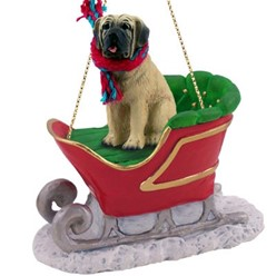 Mastiff Sleigh Christmas Ornament