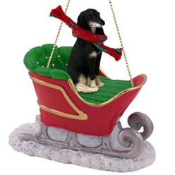 Saluki Sleigh Christmas Ornament