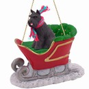 Schnauzer Sleigh Christmas Ornament