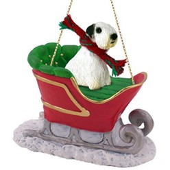 Sealyham Terrier Sleigh Christmas Ornament