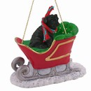 Shar Pei Sleigh Christmas Ornament