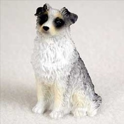 Australian Shepherd Tiny One Dog Figurine