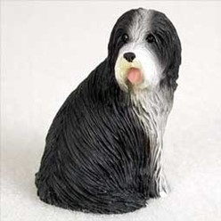 Bearded Collie Tiny One Dog Figurine