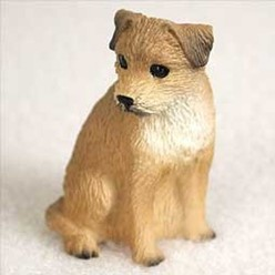 Border Terrier Tiny One Dog Figurine
