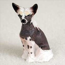 Chinese Crested Tiny One Dog Figurine
