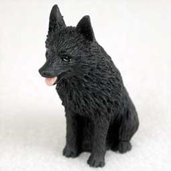 Schipperke Tiny One Dog Figurine
