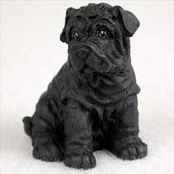 Shar Pei Tiny One Dog Figurine