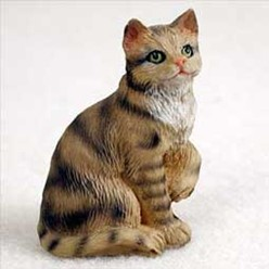 Brown Tabby Cat Tiny One Figurine