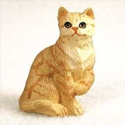 Red Tabby Cat Tiny One Figurine