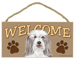 Bearded Collie Welcome Sign, a Terrific Dog Breed Gift
