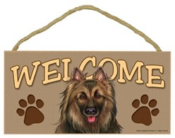 Belgian Tervuren Welcome Sign, a Terrific Dog Breed Gift