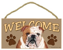 Bulldog Welcome Sign, a Terrific Dog Breed Gift