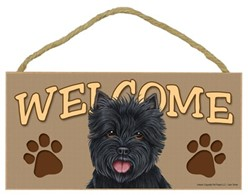 Cairn Terrier Welcome Sign, a Terrific Dog Breed Gift