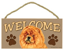 Chow Welcome Sign, a Terrific Dog Breed Gift
