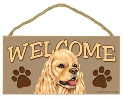 Cocker Spaniel Welcome Sign, a Terrific Dog Breed Gift