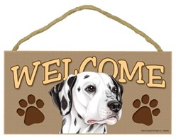 Dalmatian Welcome Sign, a Terrific Dog Breed Gift