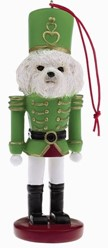 Bichon Frise Nutcracker Christmas Ornament