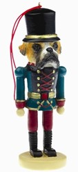Boxer Fawn Uncropped Nutcracker Christmas Ornament