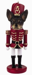 Chihuahua Black and White Nutcracker Christmas Ornament