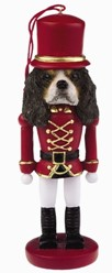 Cavalier King Charles Tri Nutcracker Christmas Ornament