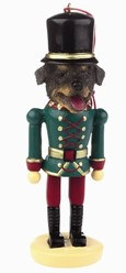 Rottweiler Nutcracker Christmas Ornament