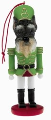 Schnauzer Nutcracker Christmas Ornament