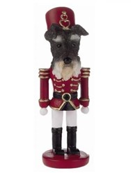 Schnauzer Uncropped Nutcracker Christmas Ornament