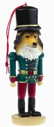 Shetland Sheepdog Nutcracker Christmas Ornament