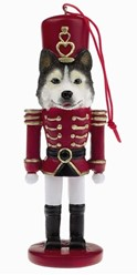 Siberian Husky Nutcracker Christmas Ornament