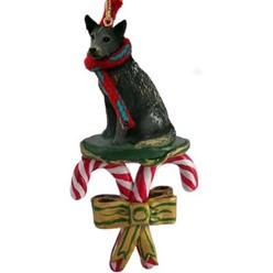 Candy Cane Australian Cattle Dog Christmas Ornament