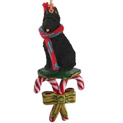 Candy Cane Bouvier Christmas Ornament