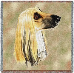 Afghan Hound Throw, Dog Breed Decor Made in the USA