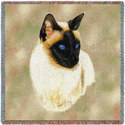 Siamese Cat Throw