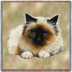 Birman Cat Throw