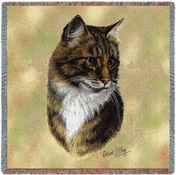 Brown Tabby Cat Throw