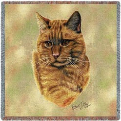 Red Tabby Cat Throw